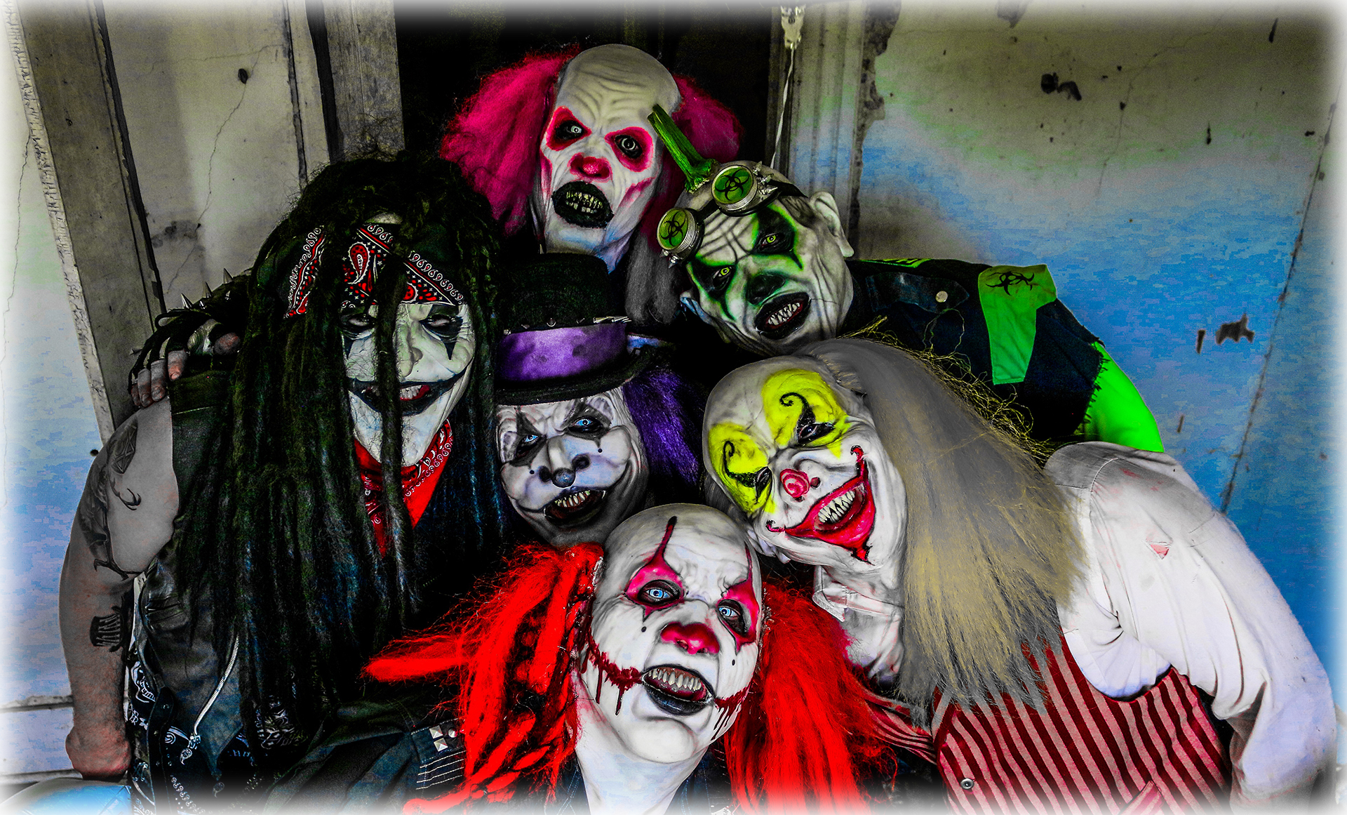 The clowns of Haunted Haven